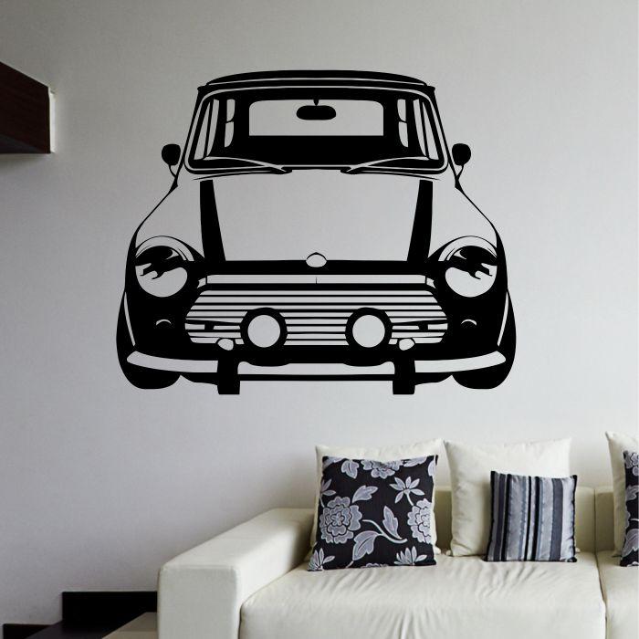 Mini Morris Naklejka Na ścianę Samochody Mistickers