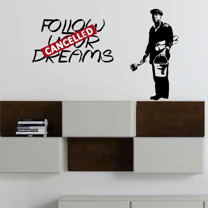 Naklejka Scienna Follow Your Dreams Mistickers